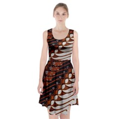 Traditional Batik Sarong Racerback Midi Dress