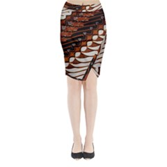 Traditional Batik Sarong Midi Wrap Pencil Skirt