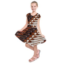Traditional Batik Sarong Kids  Short Sleeve Dress