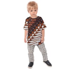 Traditional Batik Sarong Kids  Raglan Tee