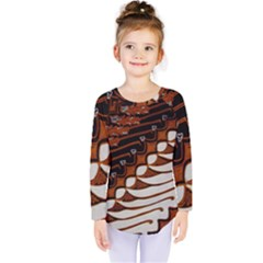 Traditional Batik Sarong Kids  Long Sleeve Tee