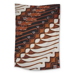 Traditional Batik Sarong Large Tapestry