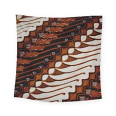 Traditional Batik Sarong Square Tapestry (Small)