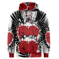 Wings Of Heart Illustration Men s Pullover Hoodie