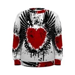 Wings Of Heart Illustration Women s Sweatshirt