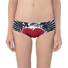 Wings Of Heart Illustration Classic Bikini Bottoms