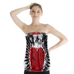 Wings Of Heart Illustration Strapless Top