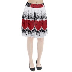 Wings Of Heart Illustration Pleated Skirt