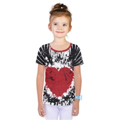 Wings Of Heart Illustration Kids  One Piece Tee