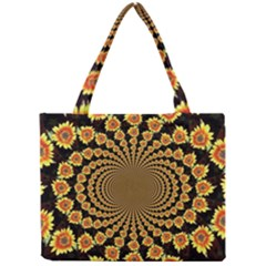 Psychedelic Sunflower Mini Tote Bag