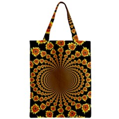 Psychedelic Sunflower Zipper Classic Tote Bag