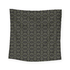Dark Interlace Tribal  Square Tapestry (small)