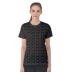 Dark Interlace Tribal  Women s Cotton Tee