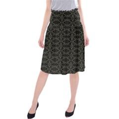 Dark Interlace Tribal  Midi Beach Skirt
