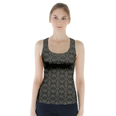 Dark Interlace Tribal  Racer Back Sports Top