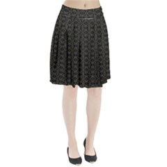 Dark Interlace Tribal  Pleated Skirt