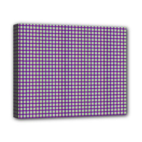 Mardi Gras Purple Plaid Canvas 10  x 8