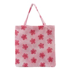 Watercolor Flower Patterns Grocery Tote Bag