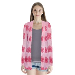 Watercolor Flower Patterns Cardigans