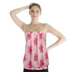 Watercolor Flower Patterns Strapless Top