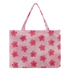Watercolor Flower Patterns Medium Tote Bag