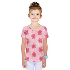 Watercolor Flower Patterns Kids  One Piece Tee