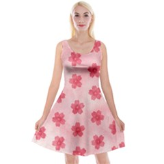 Watercolor Flower Patterns Reversible Velvet Sleeveless Dress