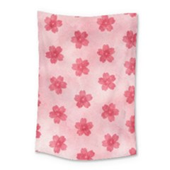 Watercolor Flower Patterns Small Tapestry