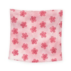 Watercolor Flower Patterns Square Tapestry (small)