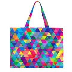Colorful Abstract Triangle Shapes Background Large Tote Bag