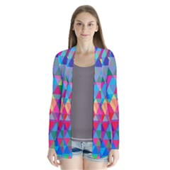 Colorful Abstract Triangle Shapes Background Cardigans