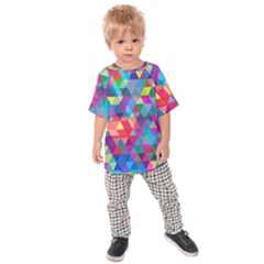 Colorful Abstract Triangle Shapes Background Kids  Raglan Tee