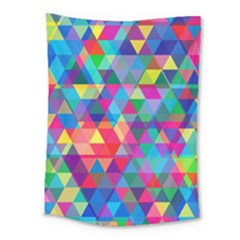 Colorful Abstract Triangle Shapes Background Medium Tapestry