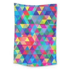 Colorful Abstract Triangle Shapes Background Large Tapestry