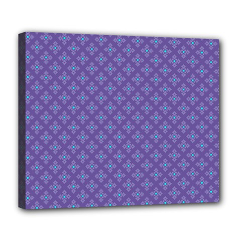 Abstract Purple Pattern Background Deluxe Canvas 24  x 20