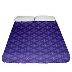 Abstract Purple Pattern Background Fitted Sheet (King Size)