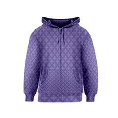 Abstract Purple Pattern Background Kids  Zipper Hoodie