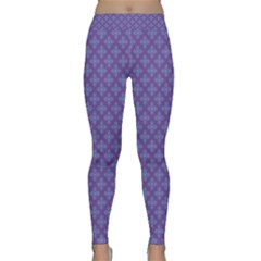 Abstract Purple Pattern Background Classic Yoga Leggings