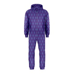 Abstract Purple Pattern Background Hooded Jumpsuit (Kids)