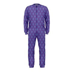 Abstract Purple Pattern Background OnePiece Jumpsuit (Kids)