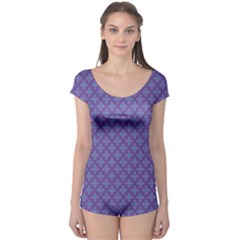 Abstract Purple Pattern Background Boyleg Leotard
