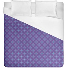 Abstract Purple Pattern Background Duvet Cover (King Size)