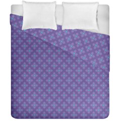Abstract Purple Pattern Background Duvet Cover Double Side (California King Size)