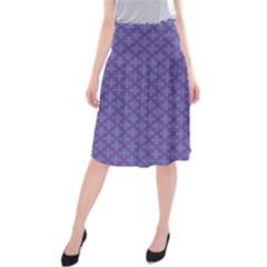 Abstract Purple Pattern Background Midi Beach Skirt