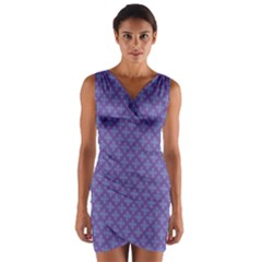 Abstract Purple Pattern Background Wrap Front Bodycon Dress