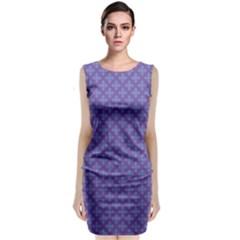 Abstract Purple Pattern Background Classic Sleeveless Midi Dress