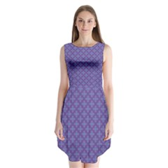 Abstract Purple Pattern Background Sleeveless Chiffon Dress