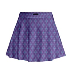 Abstract Purple Pattern Background Mini Flare Skirt