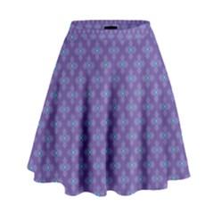 Abstract Purple Pattern Background High Waist Skirt