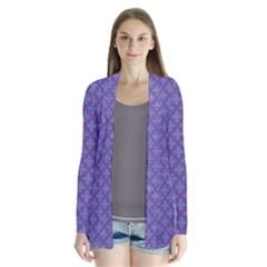 Abstract Purple Pattern Background Cardigans